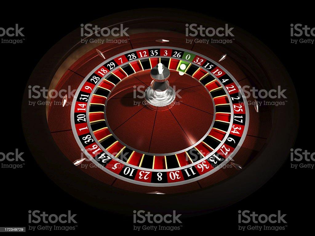 Roulette 3d stock photo