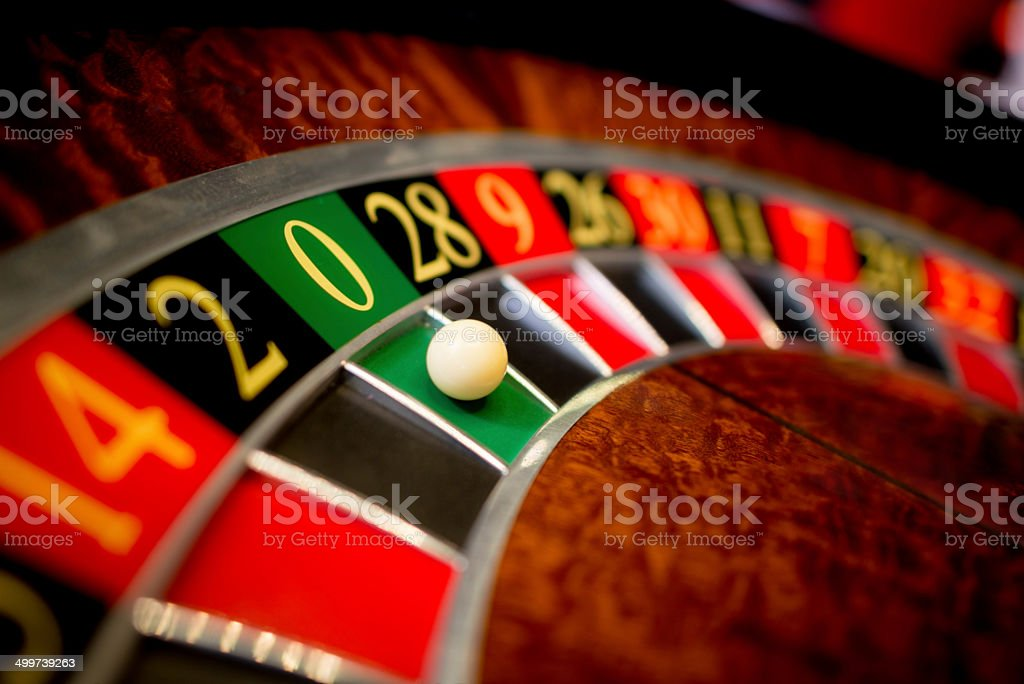 Roulette at the casino stock photo