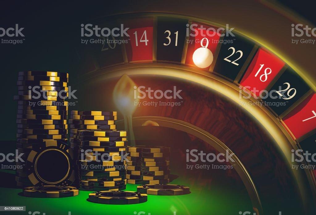 Roulette Casino Games stock photo