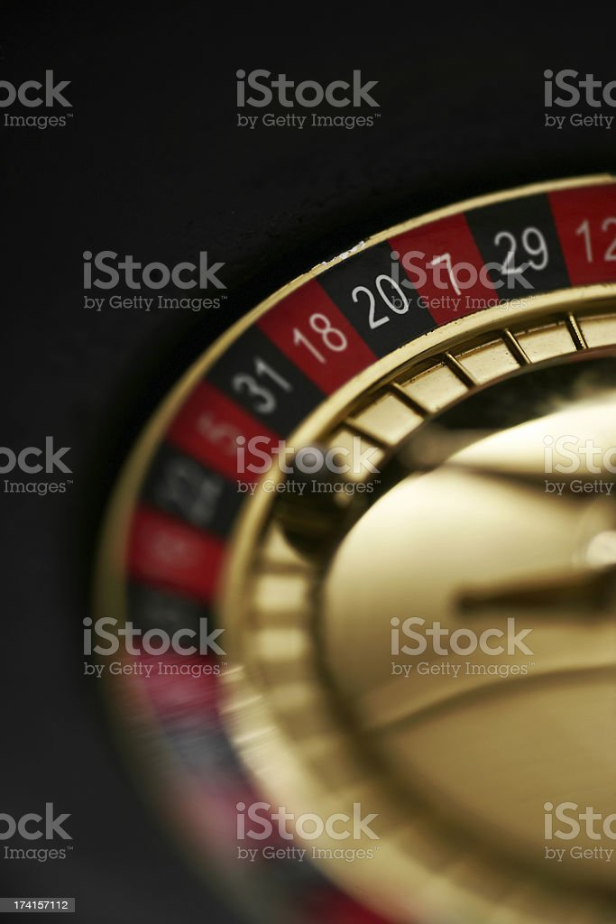 Roulette close up stock photo