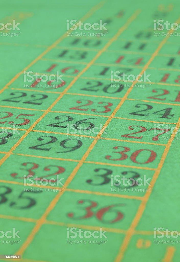 Roulette felt royalty-free stock photo