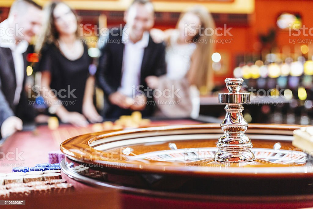 Roulette Game at Casino stock photo