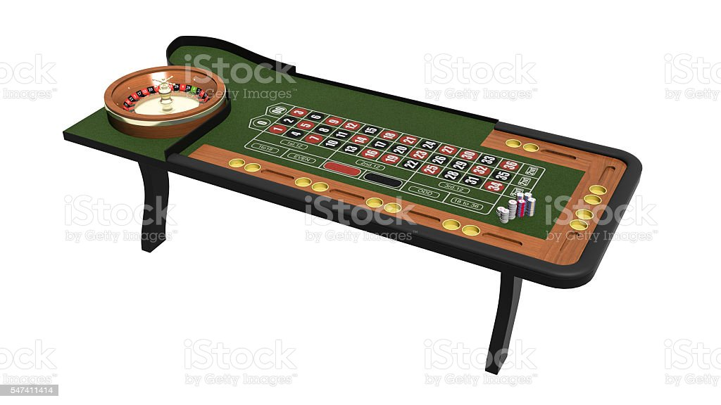 Roulette game, casino table isolated on white background, 3D...