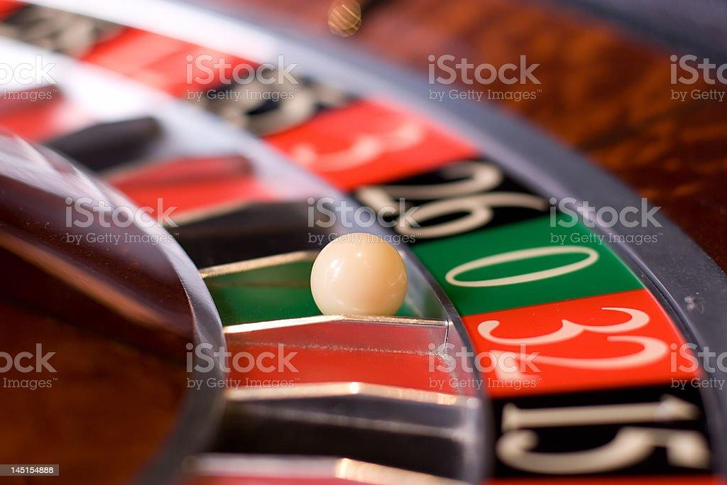 Roulette in casino, zeno wins royalty-free stock photo