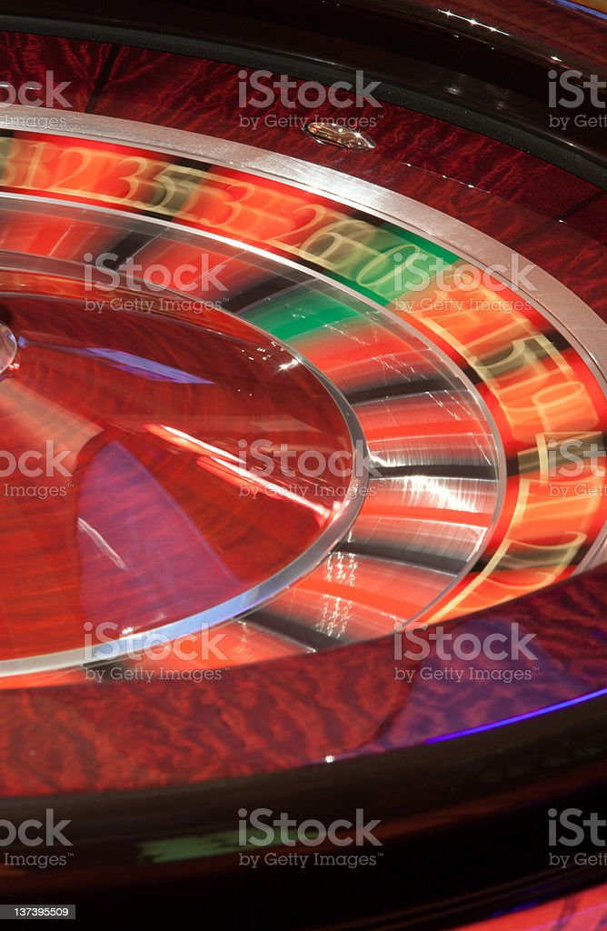 Roulette in motion royalty-free stock photo