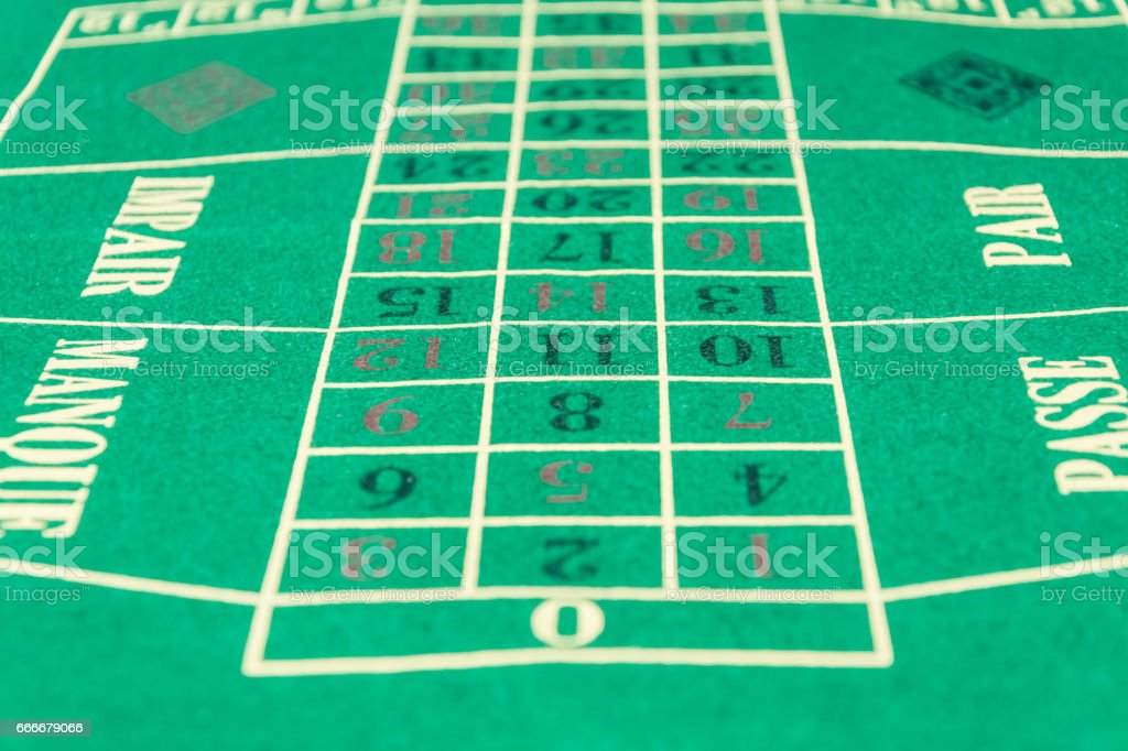 Roulette layout stock photo