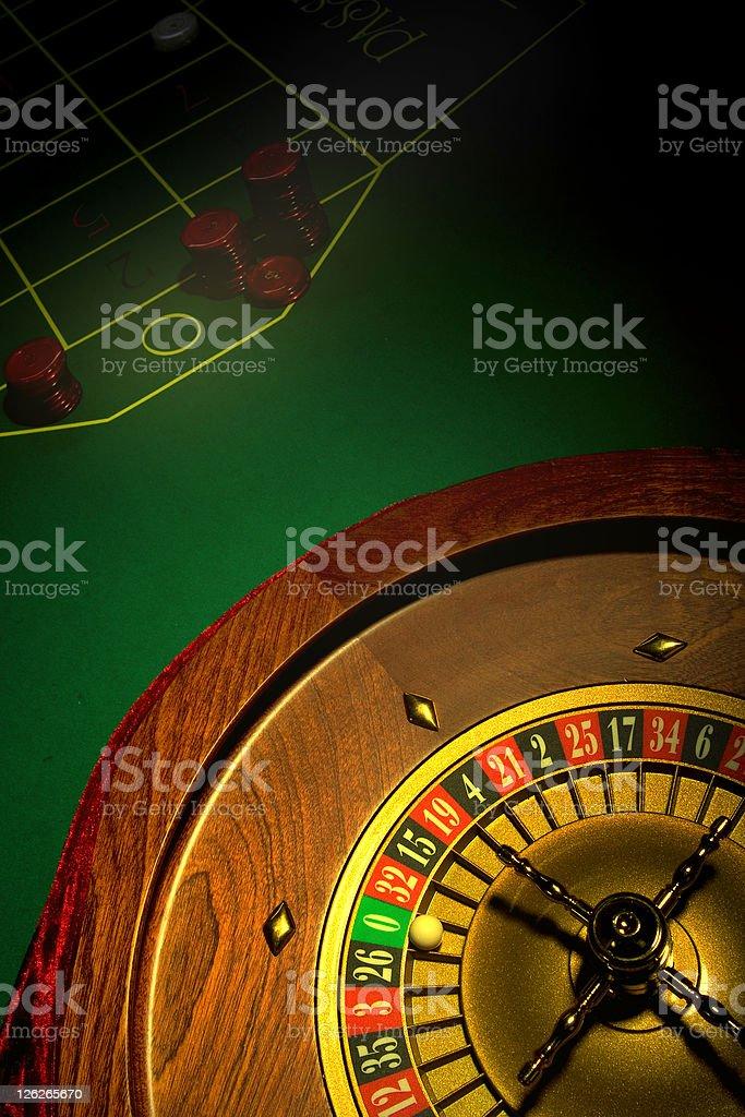Roulette on Zero royalty-free stock photo