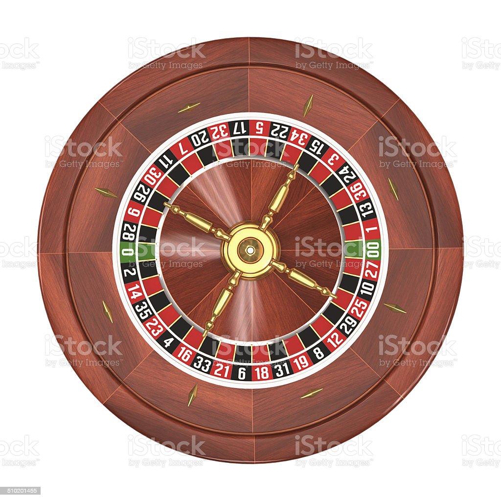Roulette Over White stock photo