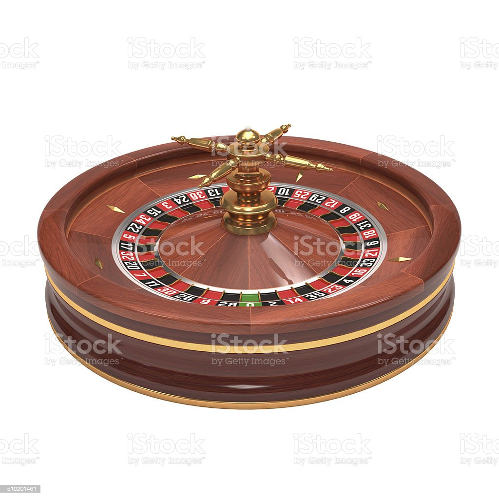 Roulette Over White stock photo