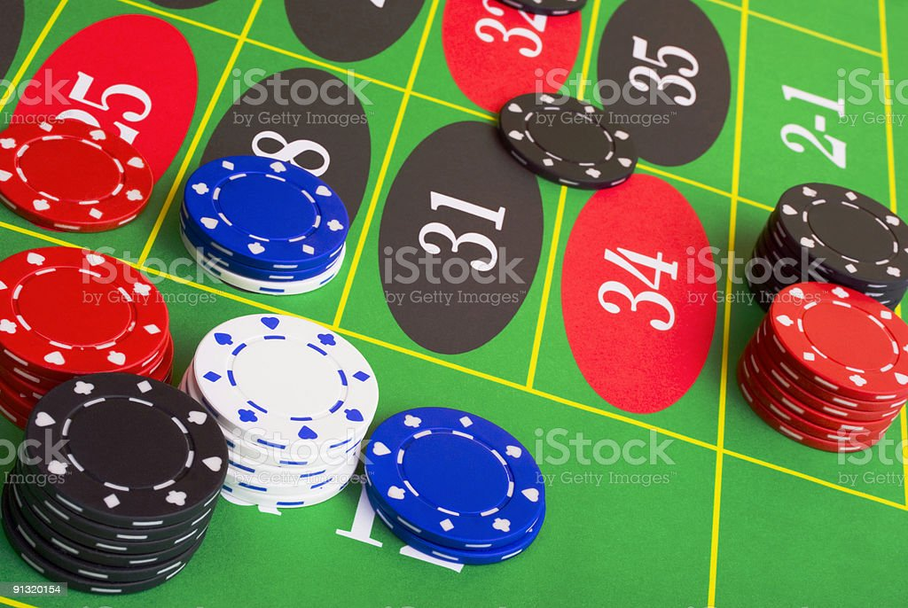 Roulette Placing Bets royalty-free stock photo