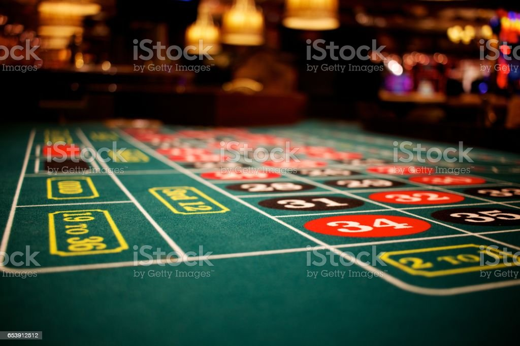 Roulette Table 34 stock photo