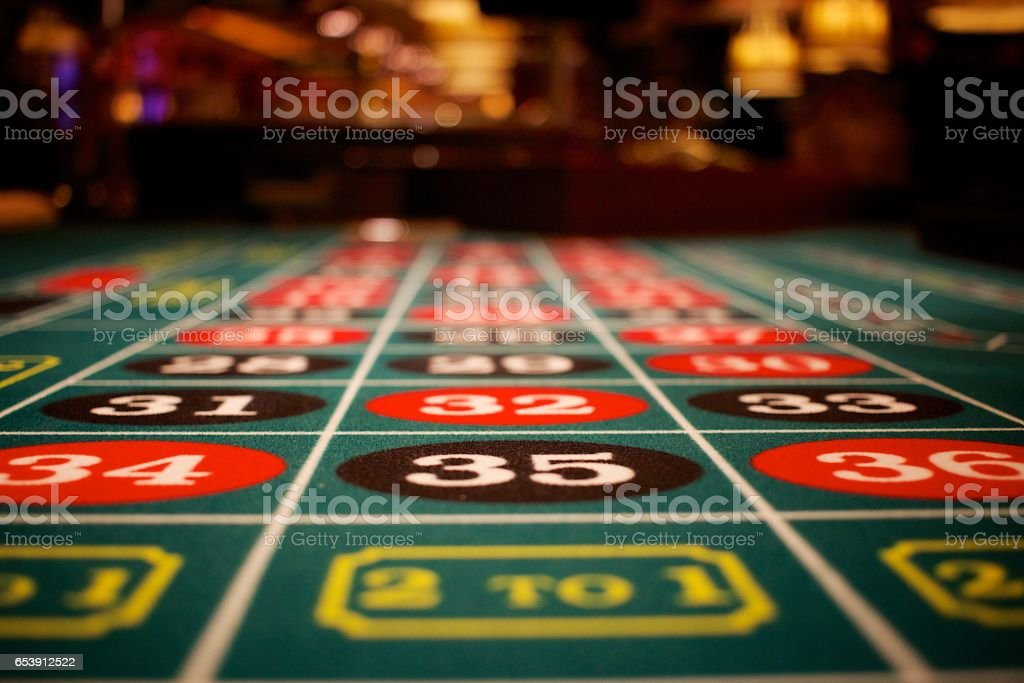 Roulette Table 35 stock photo
