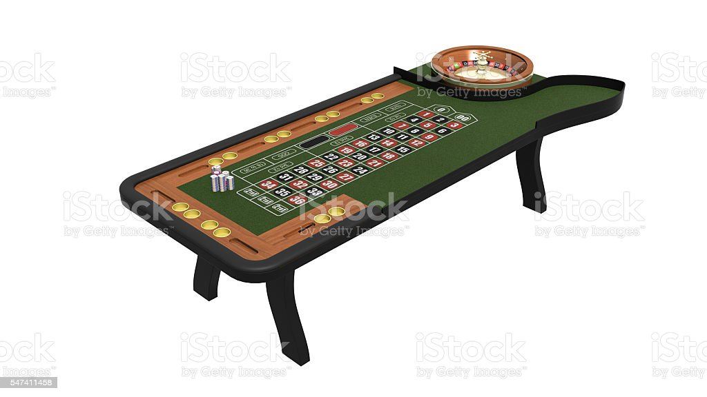 Roulette table, casino gambling game isolated on white background, 3D...
