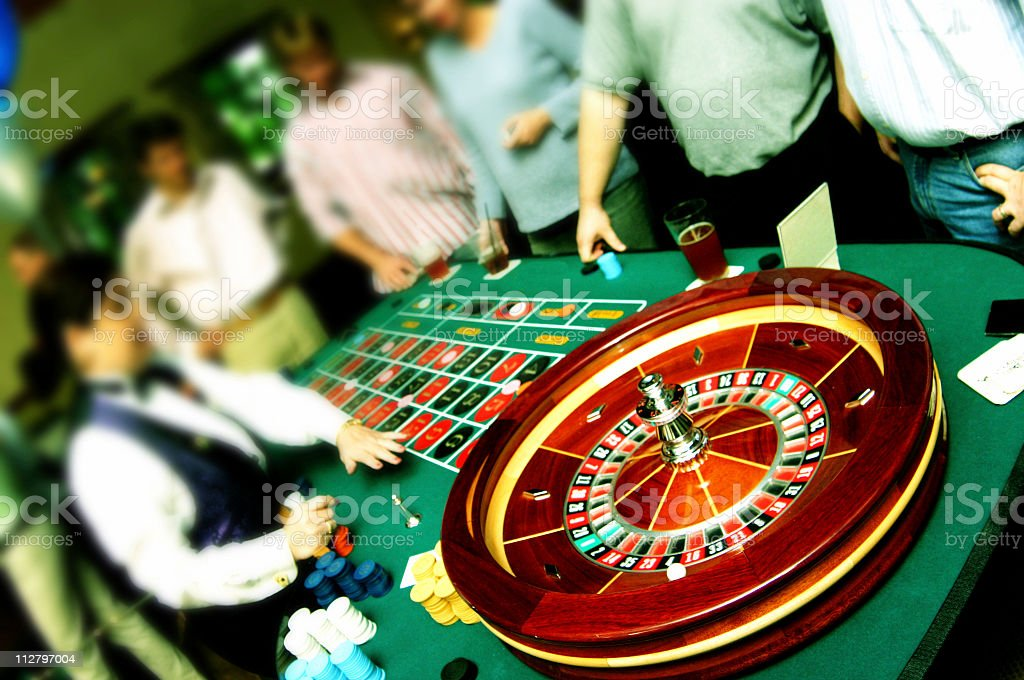 Roulette table in Cross Process royalty-free stock photo