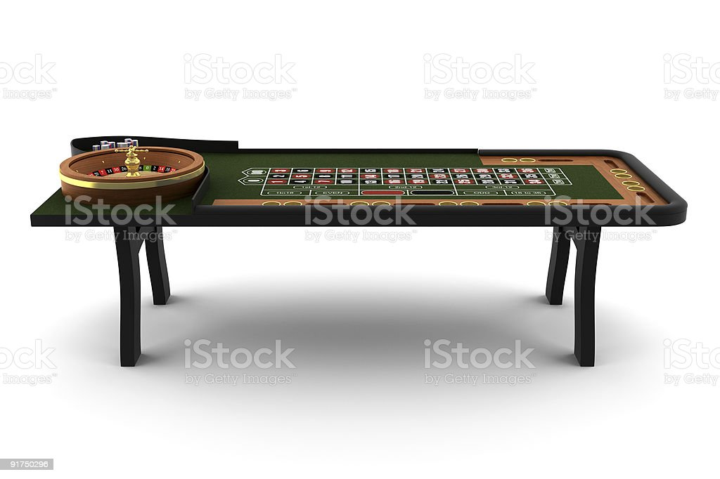 roulette table isolated on white with clipping path stock photo