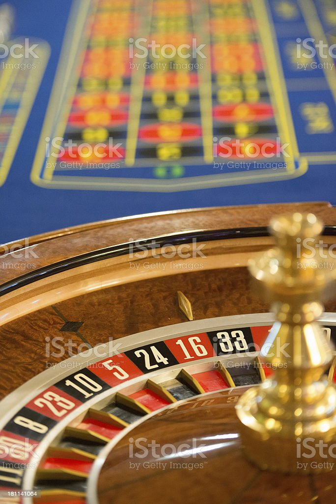 Roulette table of a casino royalty-free stock photo