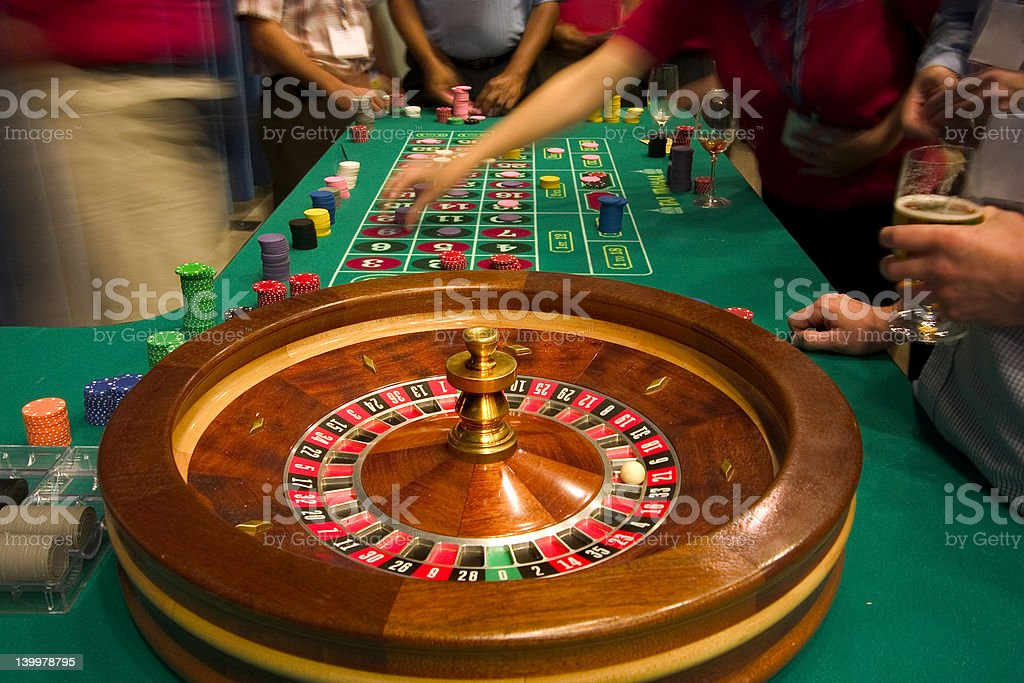 roulette table stock photo