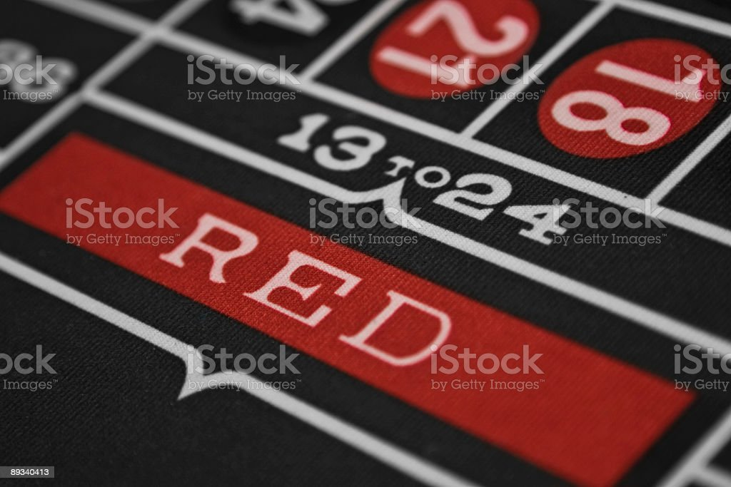 Roulette Table red royalty-free stock photo