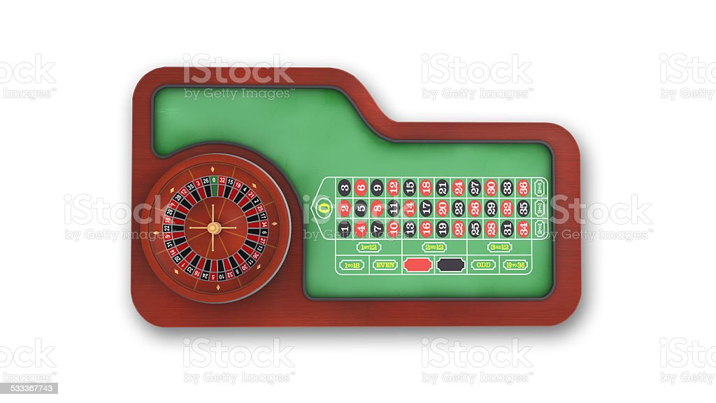 Roulette Table, top view stock photo
