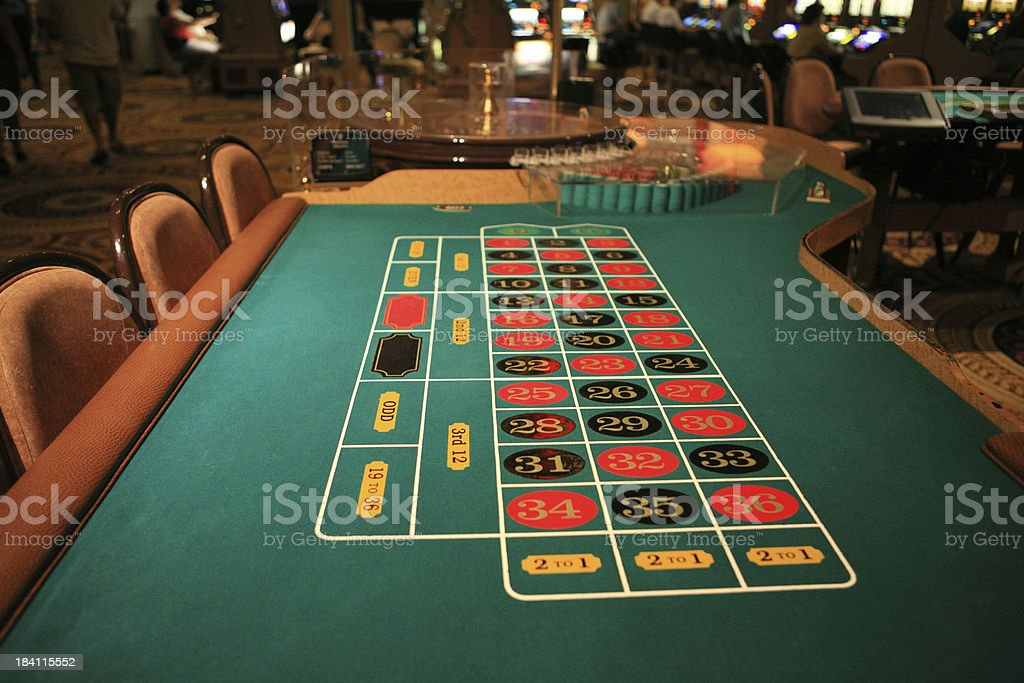 Roulette table waiting for gamblers royalty-free stock photo