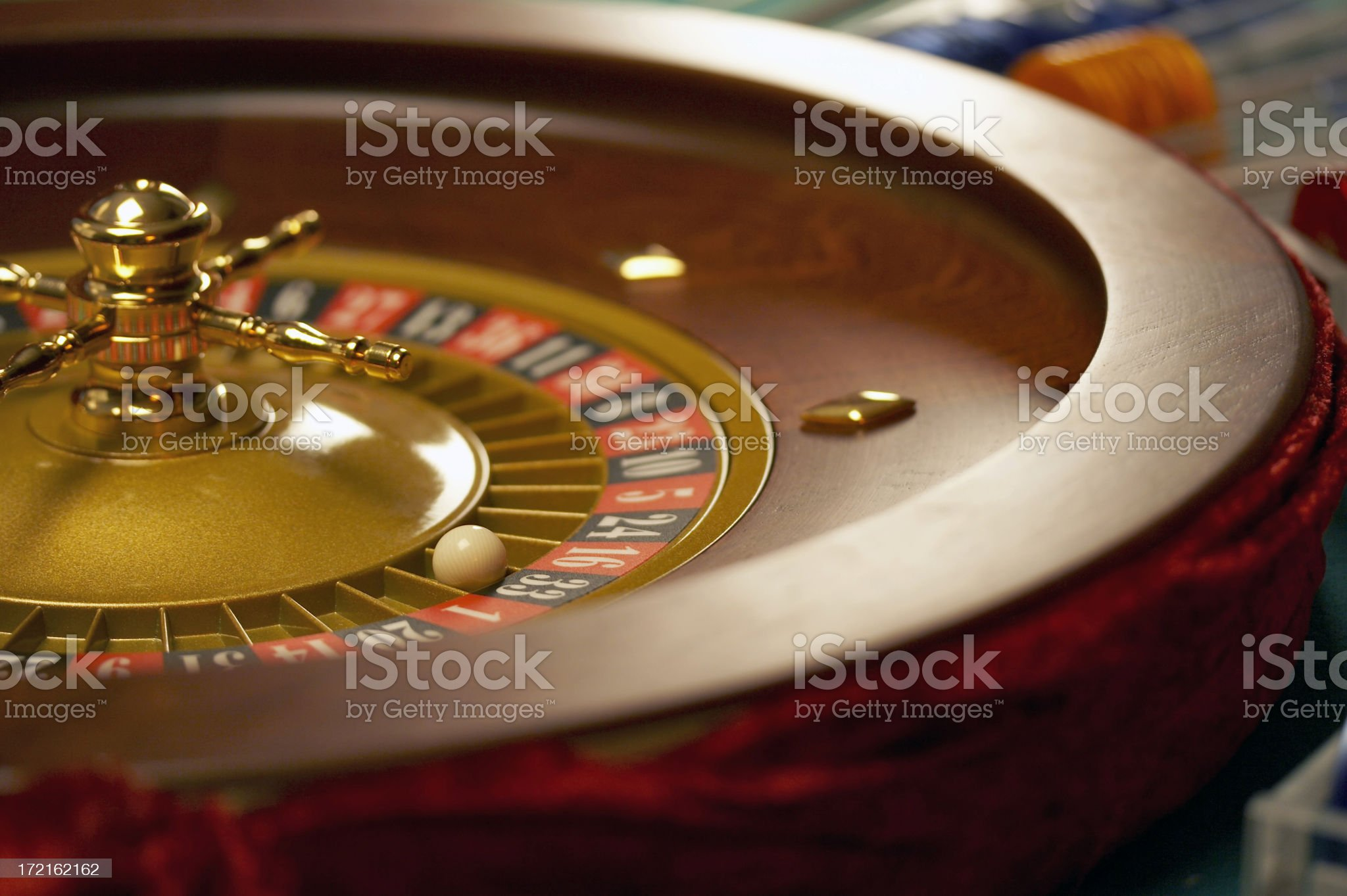 Roulette wheel - 33 Black royalty-free stock photo