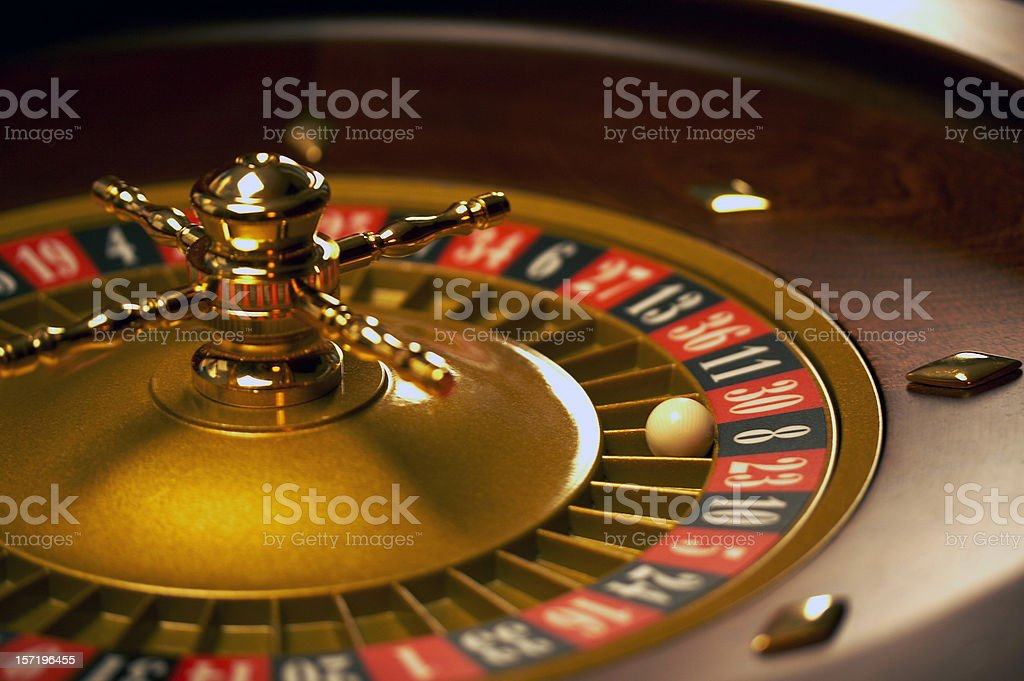 Roulette wheel - 8 Black royalty-free stock photo