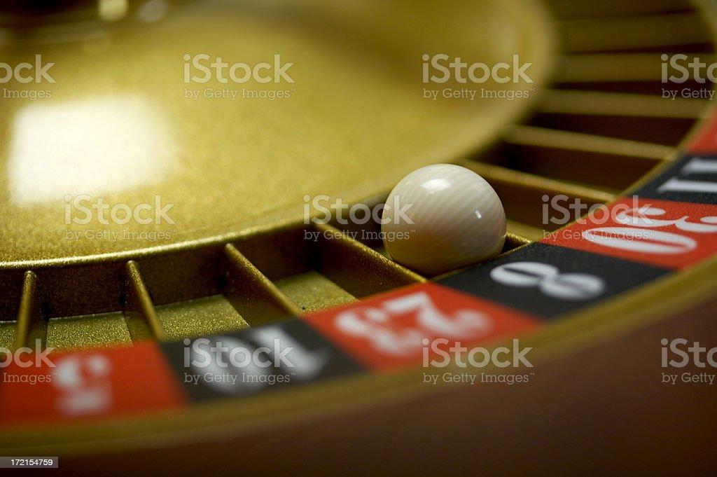 Roulette wheel - 8 Black stock photo