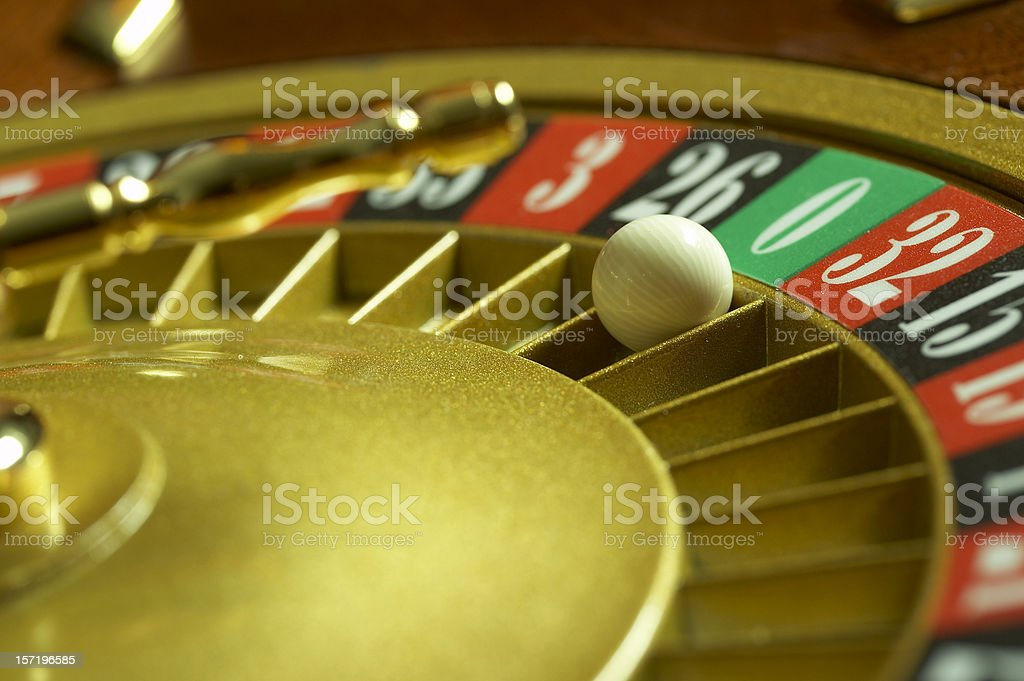 Roulette wheel - green Zero royalty-free stock photo