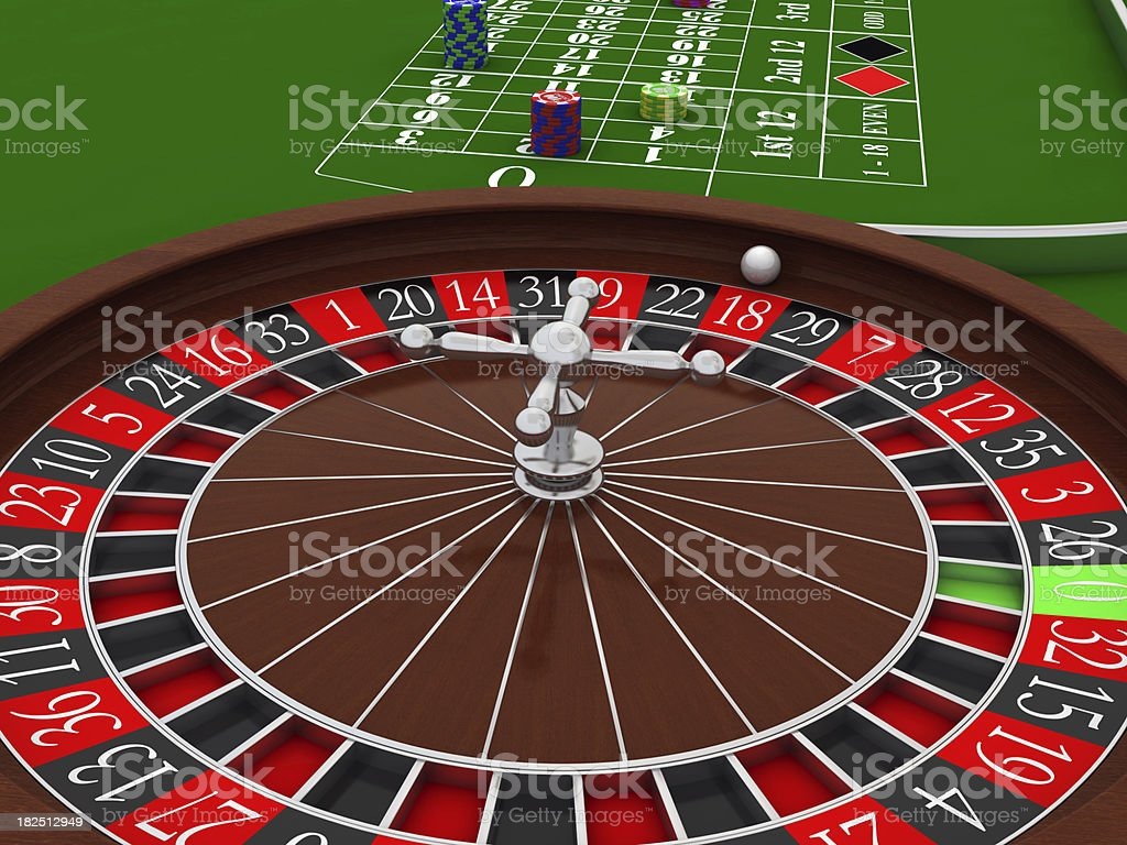 Roulette Wheel in casino royalty-free stock photo