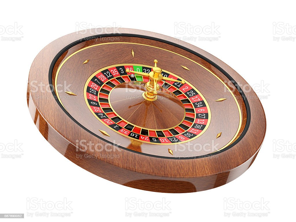 roulette wheel  isolated on white background stock photo