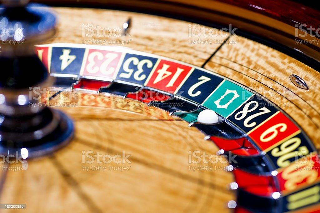 Roulette wheel royalty-free stock photo