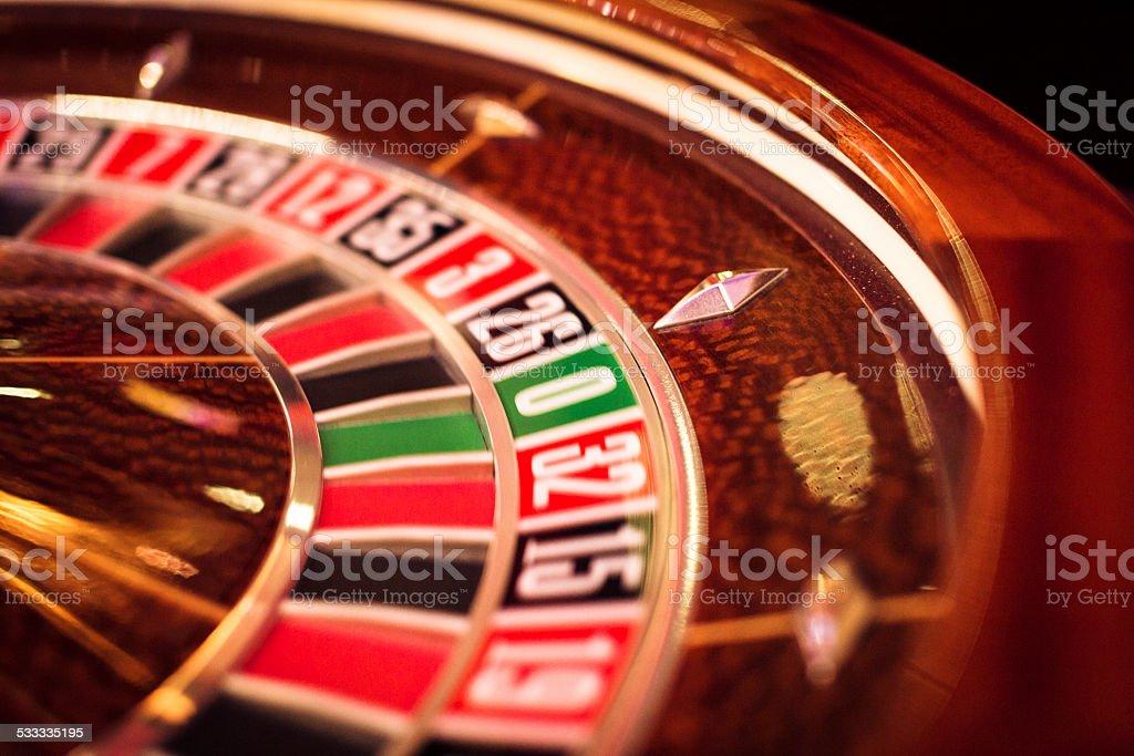 roulette wheel stock photo
