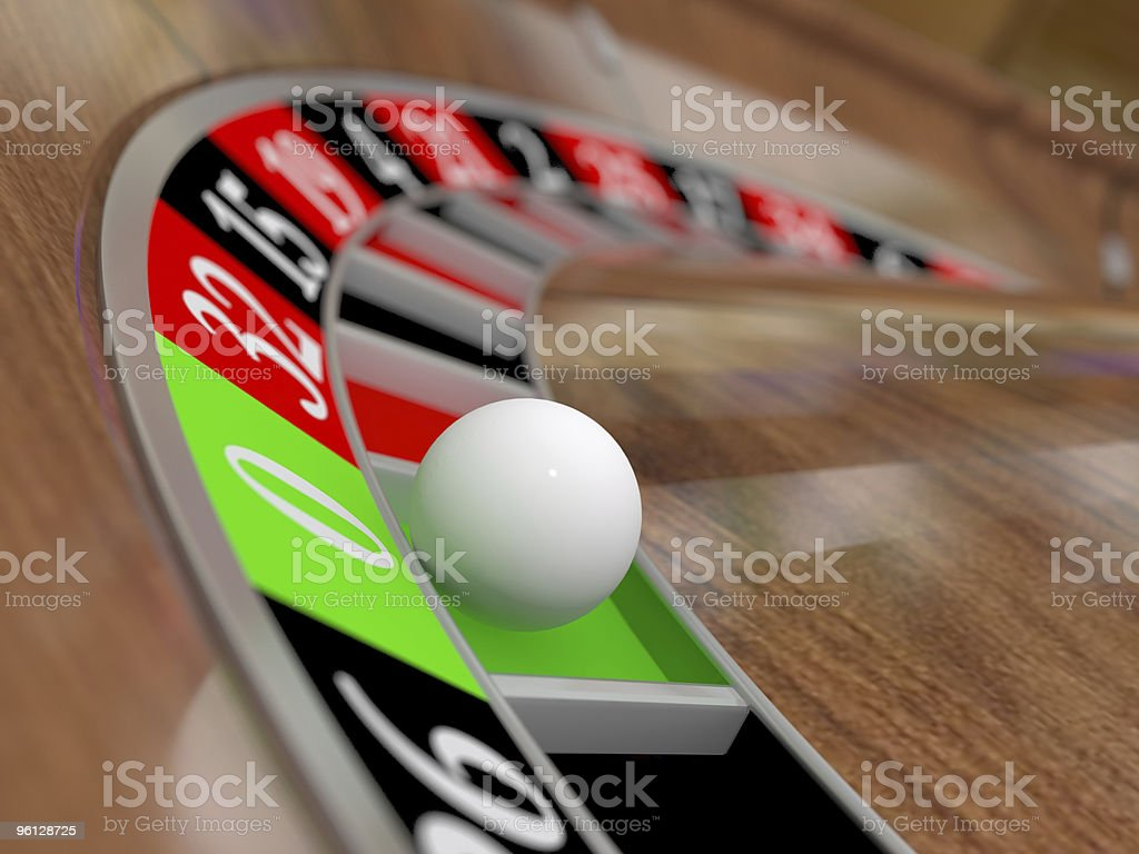 Roulette wheel (3D) royalty-free stock photo