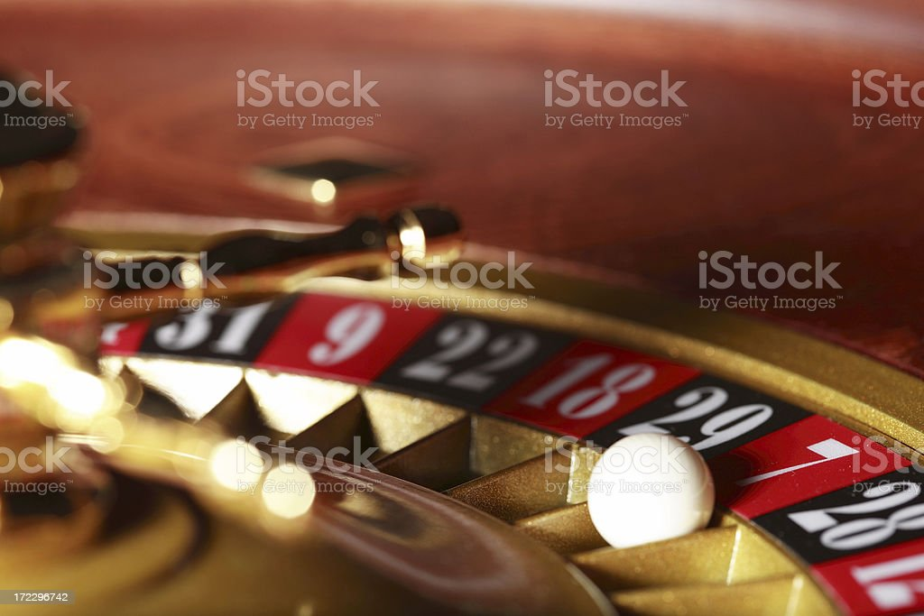 roulette wheel seven royalty-free stock photo