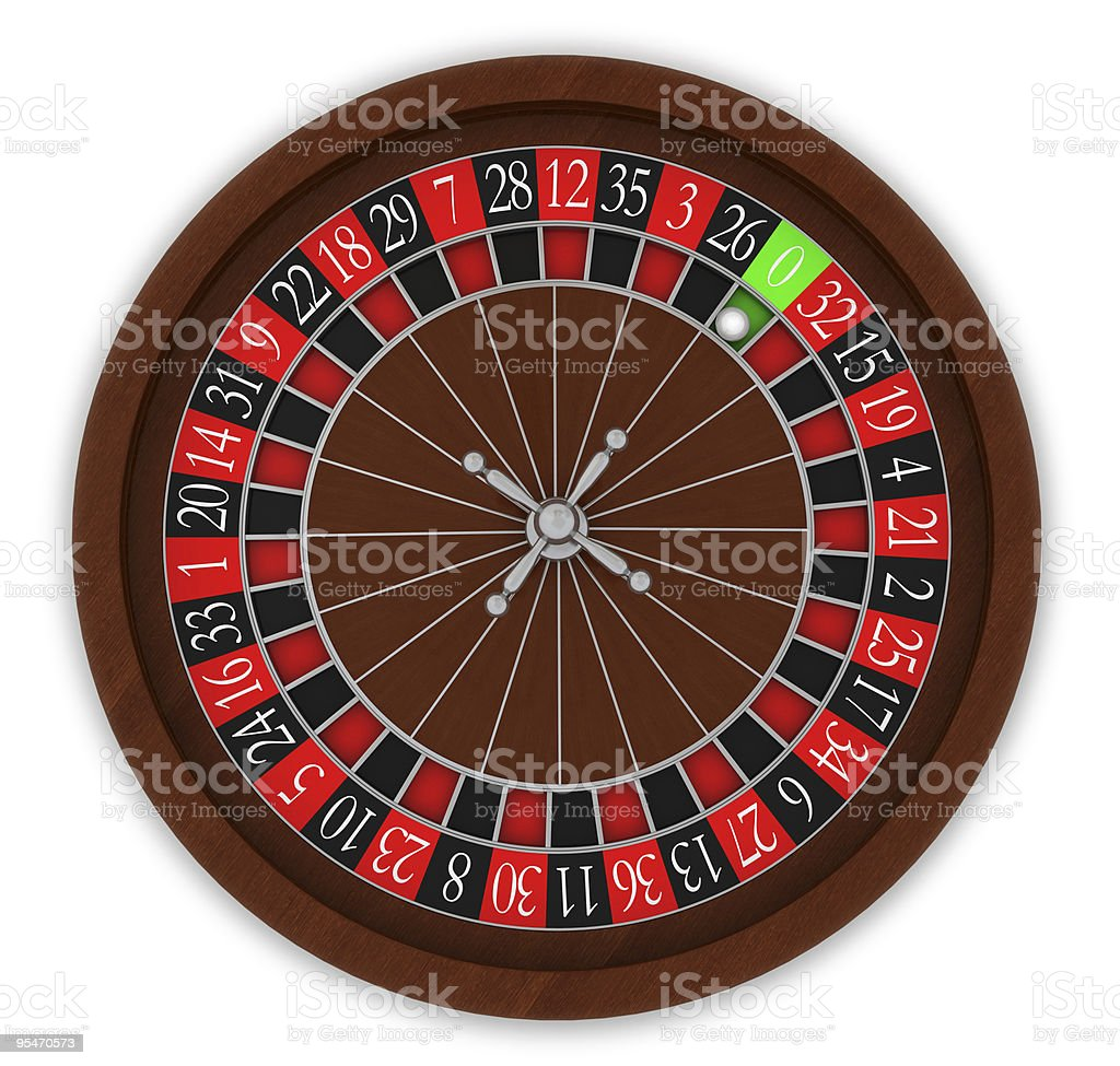 Roulette wheel with number eleven selected royalty-free stock photo