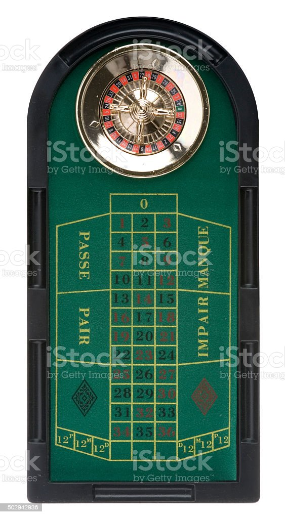 Roulettetableau stock photo