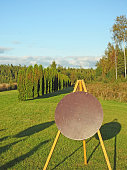 Round archery target on a background
