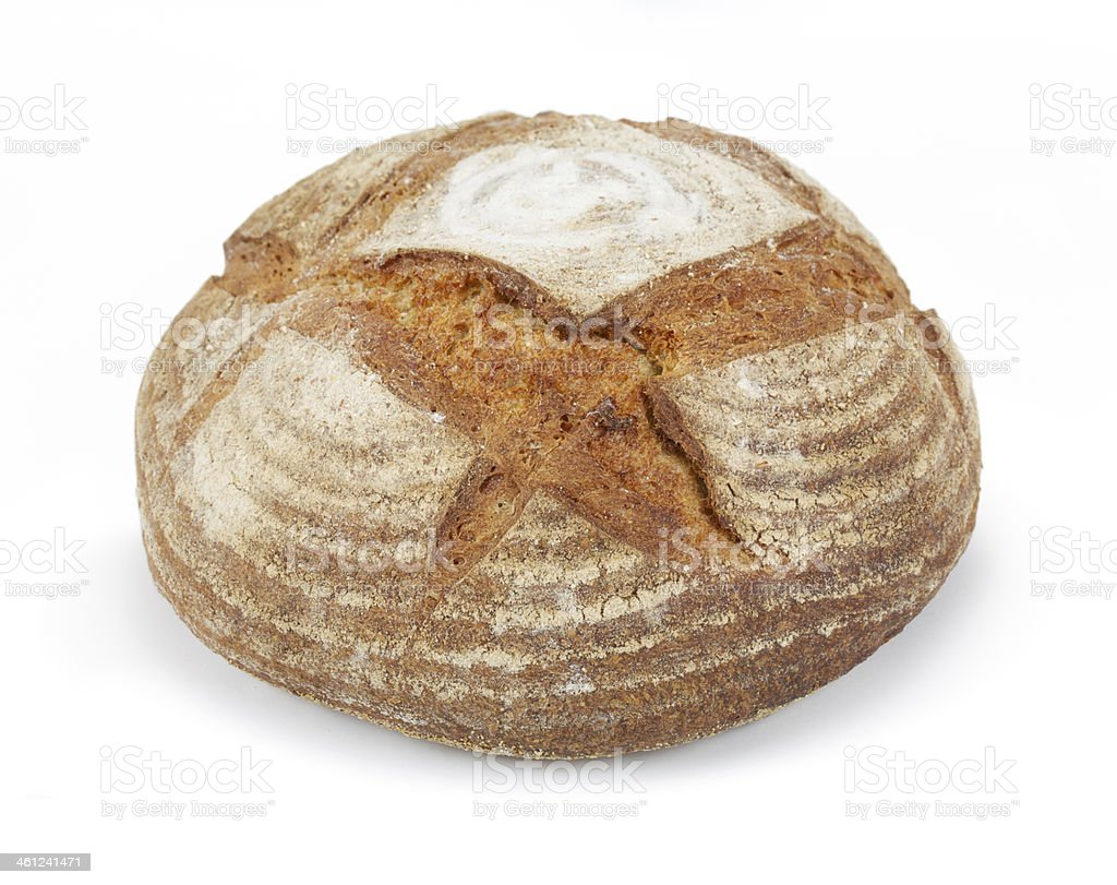 round Artisan crusty loaf stock photo