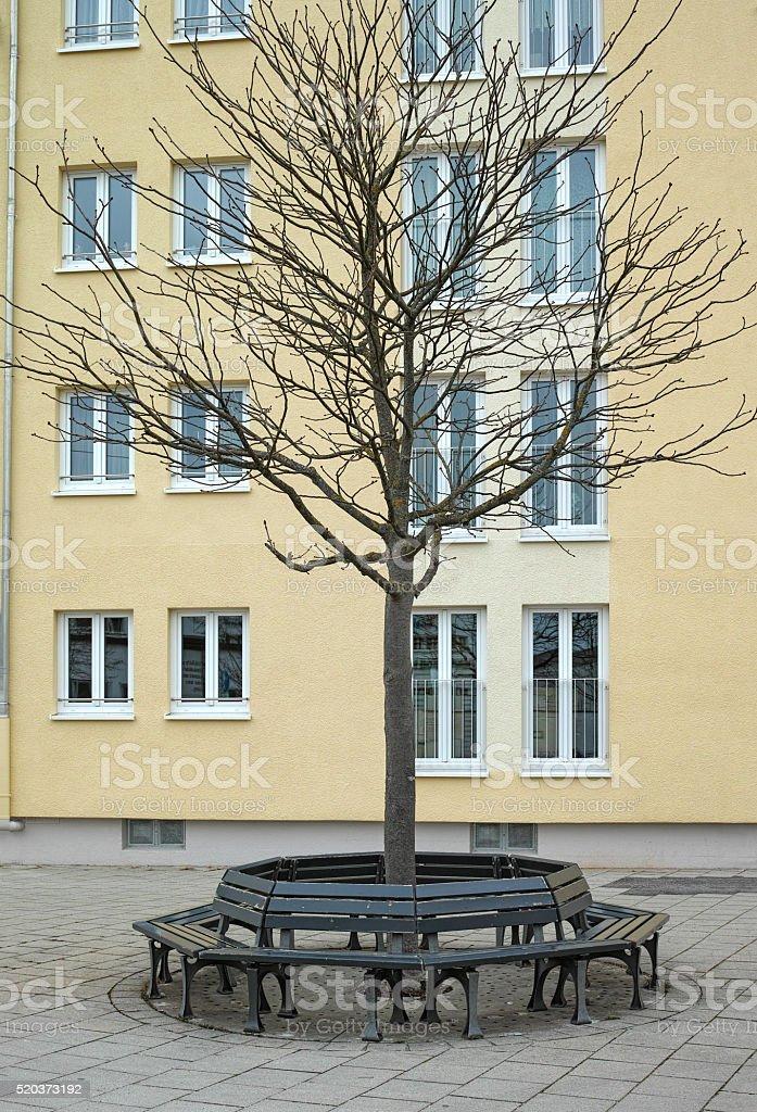 Round bench royalty-free stock photo