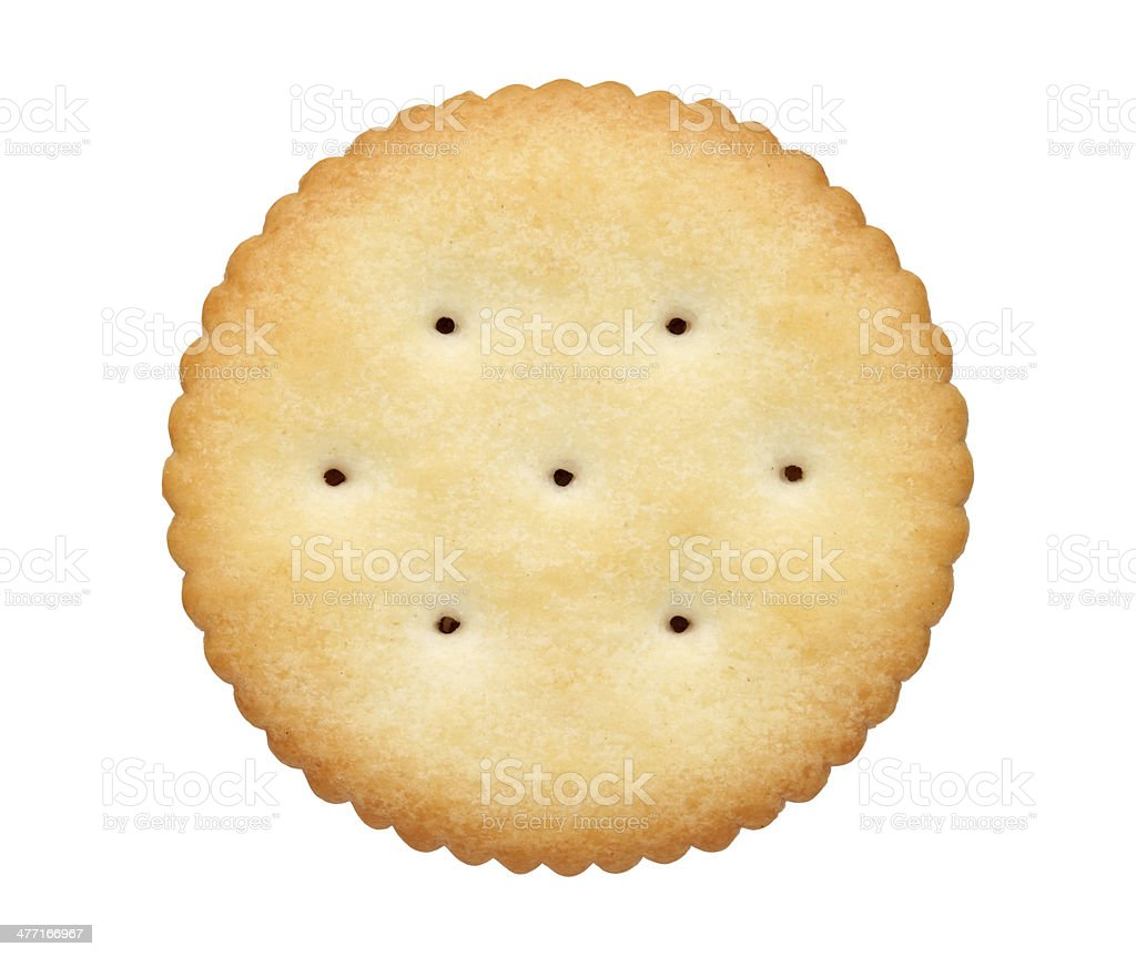 round biscuit stock photo