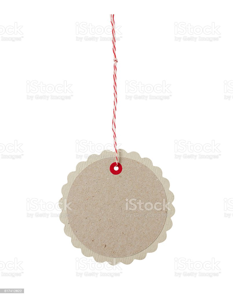 Round blank gift tag stock photo