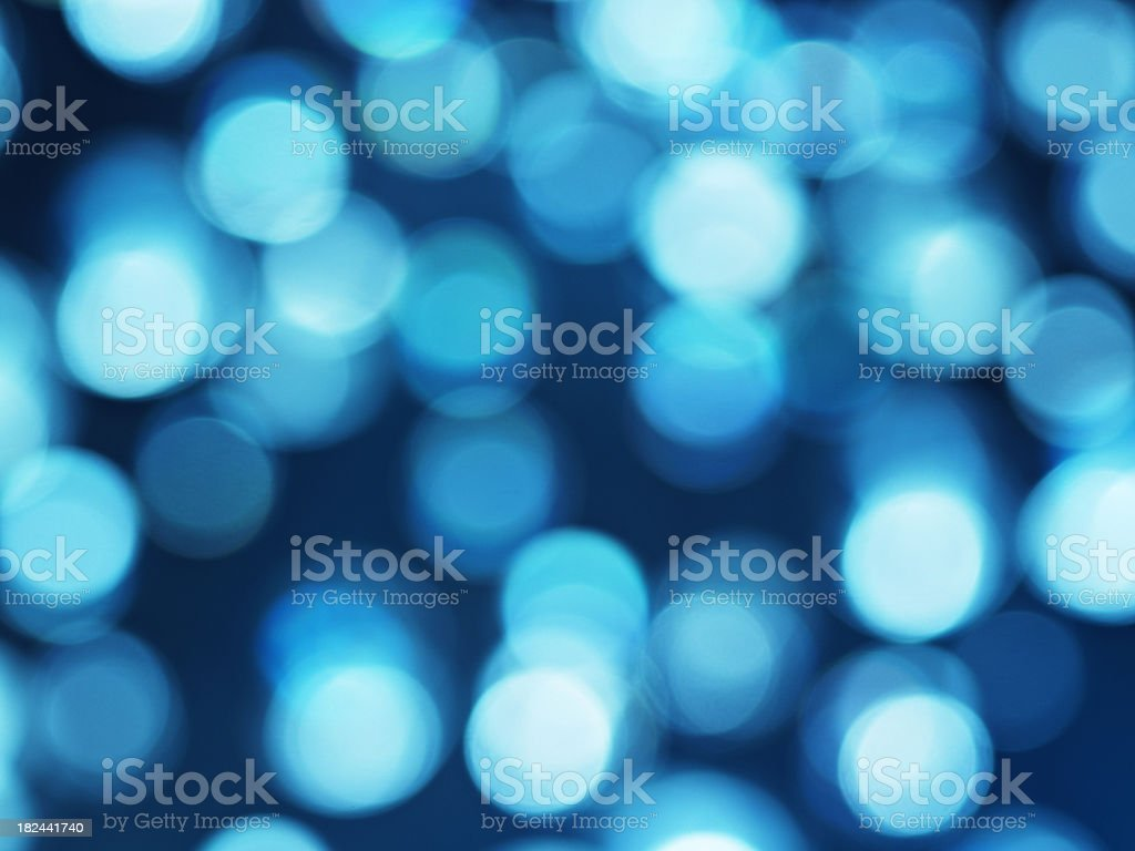 round bokeh in blue royalty-free stock photo