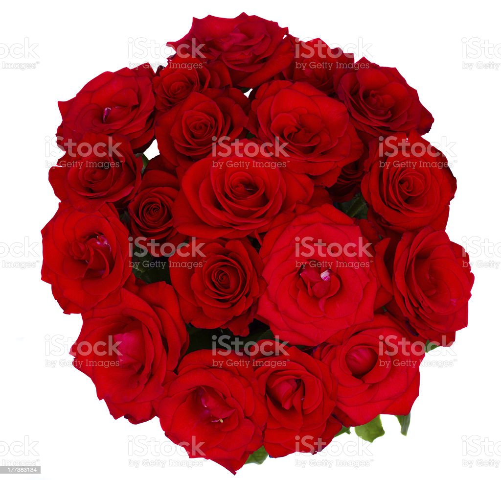round bouquet of red roses royalty-free stock photo