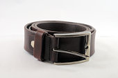 Round Brown belt for men