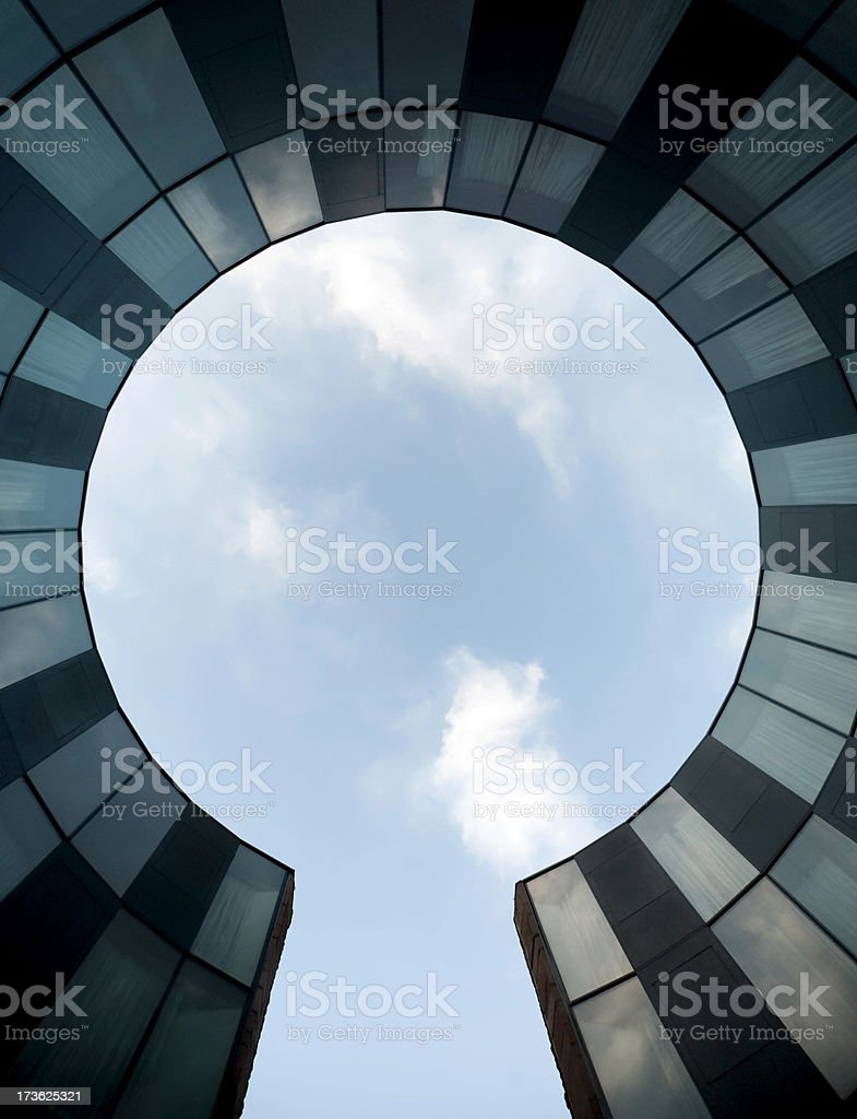 round business architecture stock photo
