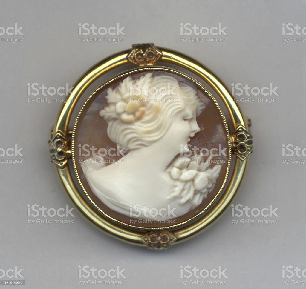 Round Cameo stock photo