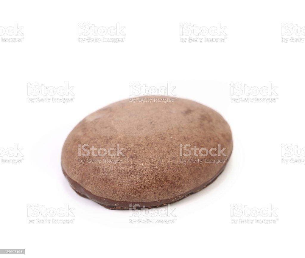 Round chocolate meringue. stock photo