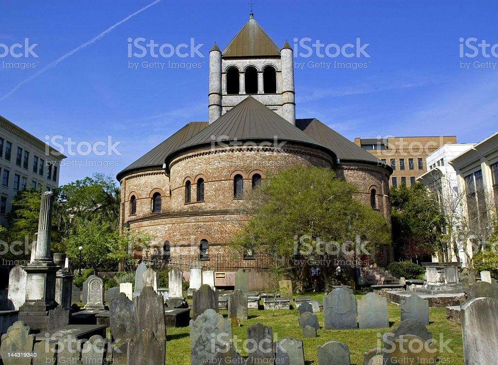 Round Church and Graveyard in Charleston, SC royalty-free stock photo