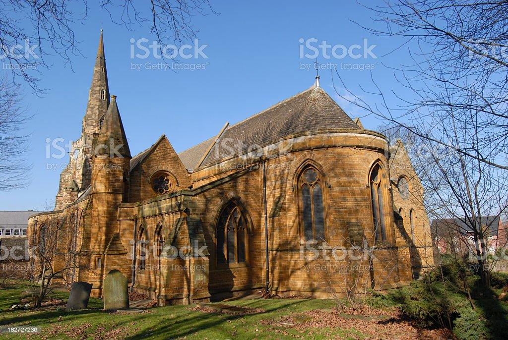 Round church. Northampton. England UK. stock photo