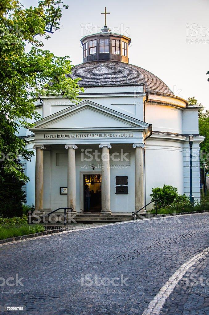 Round Church - Tihany, Hungary stock photo